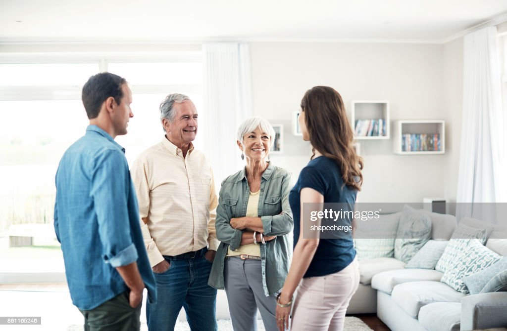 She's perfect for our son : Stock Photo