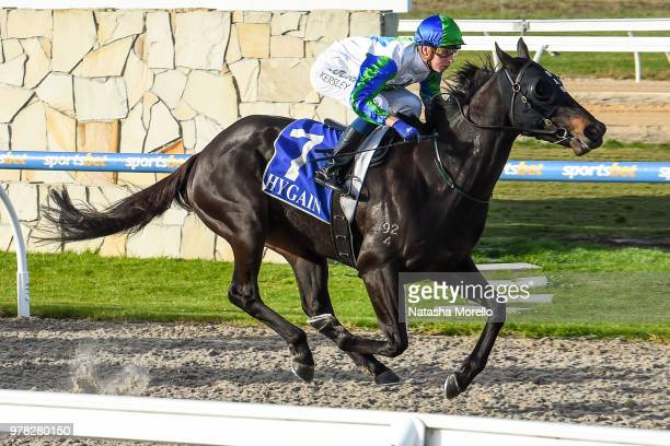 She's Popular ridden by Fred Kersley wins the Cardinia Club Trivia 22nd June BM58 Handicap at Racingcom Park Synthetic Racecourse on June 19 2018 in...