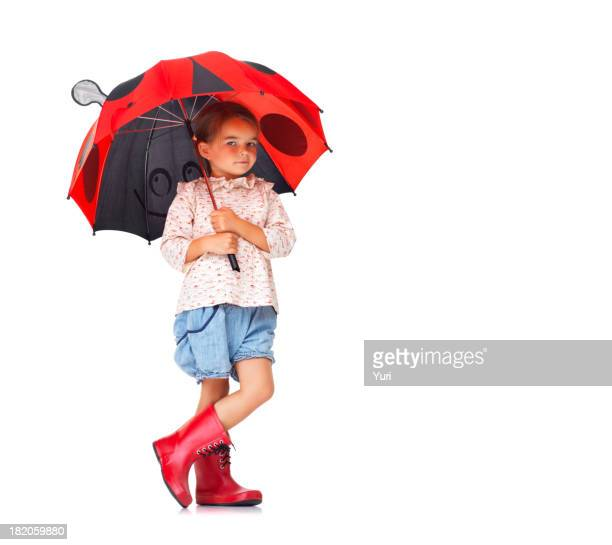 She's prepared for a rainy day