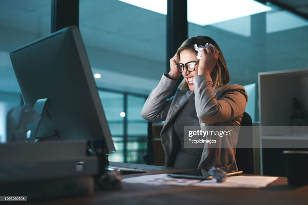 She's reached her breaking point : Stock Photo