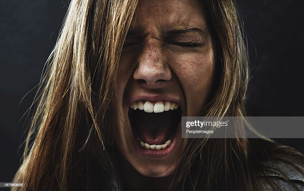 She's reached the end of her rope! : Stock Photo