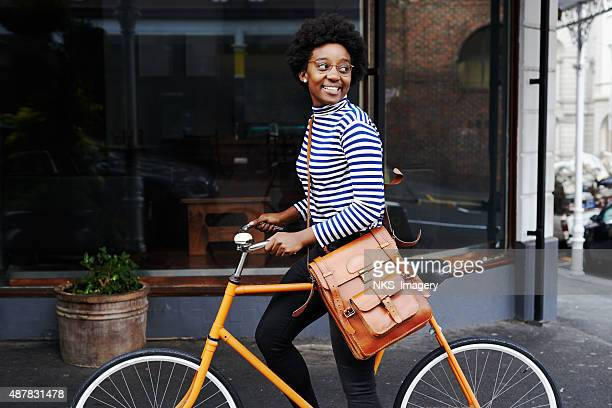 she's smiling at the sights - cycling stock pictures, royalty-free photos & images