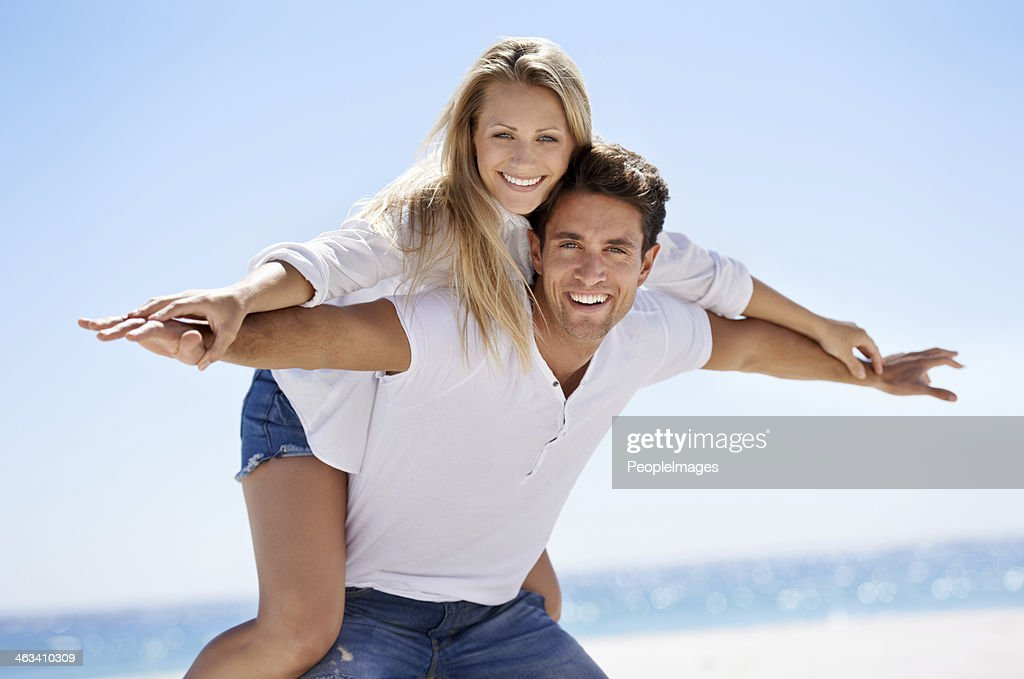 She's the girl I'm going to marry! : Stock Photo