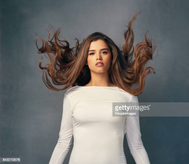 She's the queen of sexy and voluptuous hair