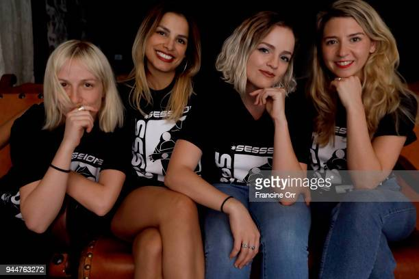 SheSaidSo's Andreea Magdalina Kathy Suarez Melina Powell and Lottie Moore are photographed for Los Angeles Times on April 7 2018 in Los Angeles...