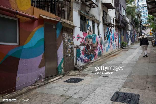 Sheung Wan Hong Kong Street Art - Sheung Wan is a popular hangout for artists in Hong Kong where many of the neighborhoods murals were produced by HK...