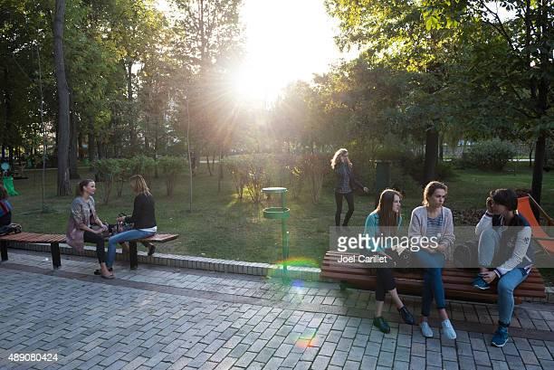 Shevchenko Park in Kiev, Ukraine
