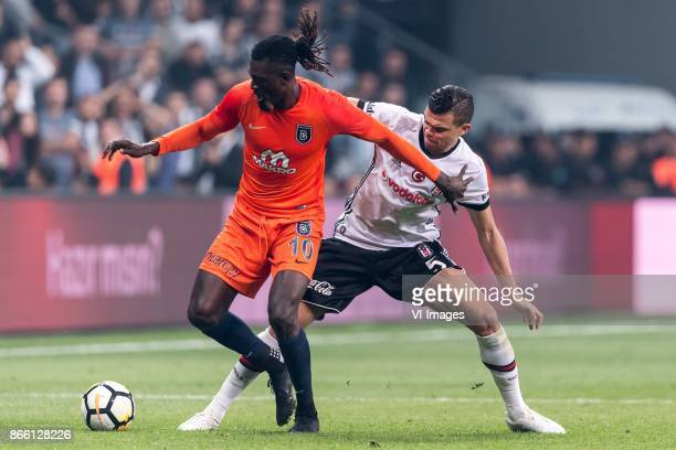 Sheyi Emmanuel Adebayor of Istanbul Medipol Basaksehir FK Kepler Laveran Lima Ferreira of Besiktas JK during the Turkish Spor Toto Super Lig football...