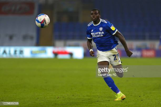 Sheyi Ojo of Cardiff City FC during the Sky Bet Championship match between Cardiff City and Luton Town at Cardiff City Stadium on November 28, 2020...