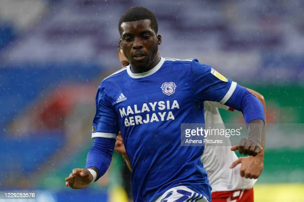 Sheyi Ojo of Cardiff City in action during the Sky Bet Championship match between Cardiff City and Middlesbrough at the Cardiff City Stadium on...
