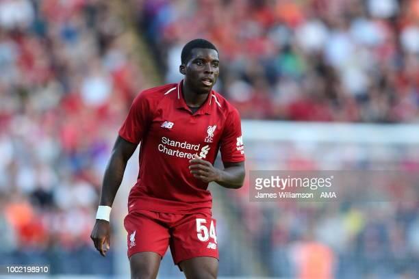 Sheyi Ojo of Liverpool at Ewood Park on July 19 2018 in Blackburn England