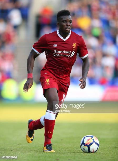 Sheyi Ojo of Liverpool during a preseason friendly match between Tranmere Rovers and Liverpool at Prenton Park on July 12 2017 in Birkenhead England