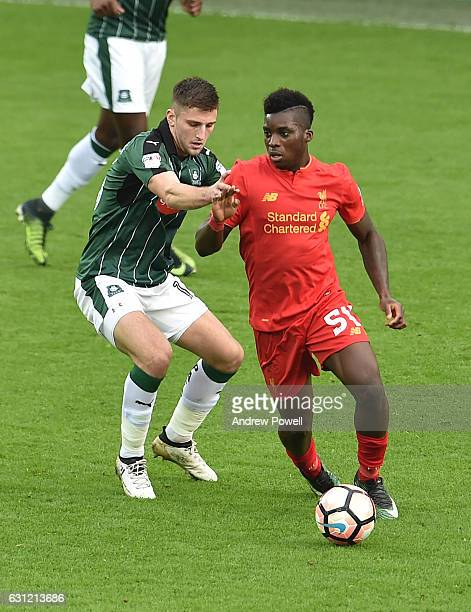 Sheyi ojo of Liverpool during the Emirates FA Cup Third Round match between Liverpool and Plymouth Argyle at Anfield on January 8 2017 in Liverpool...