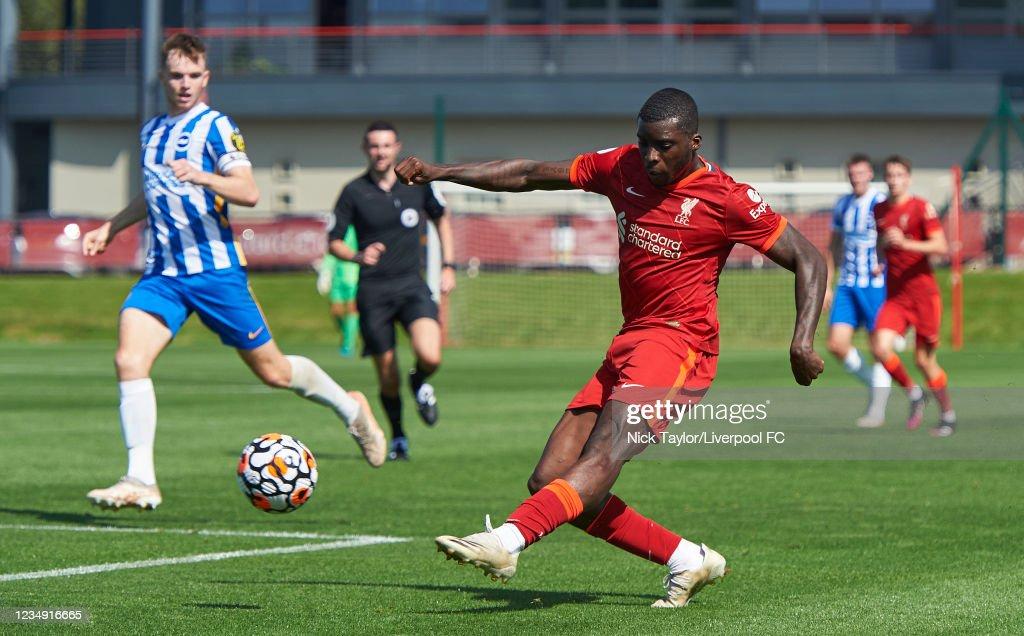 Liverpool U23 v Brighton & Hove Albion U23: Premier League 2 : Nachrichtenfoto