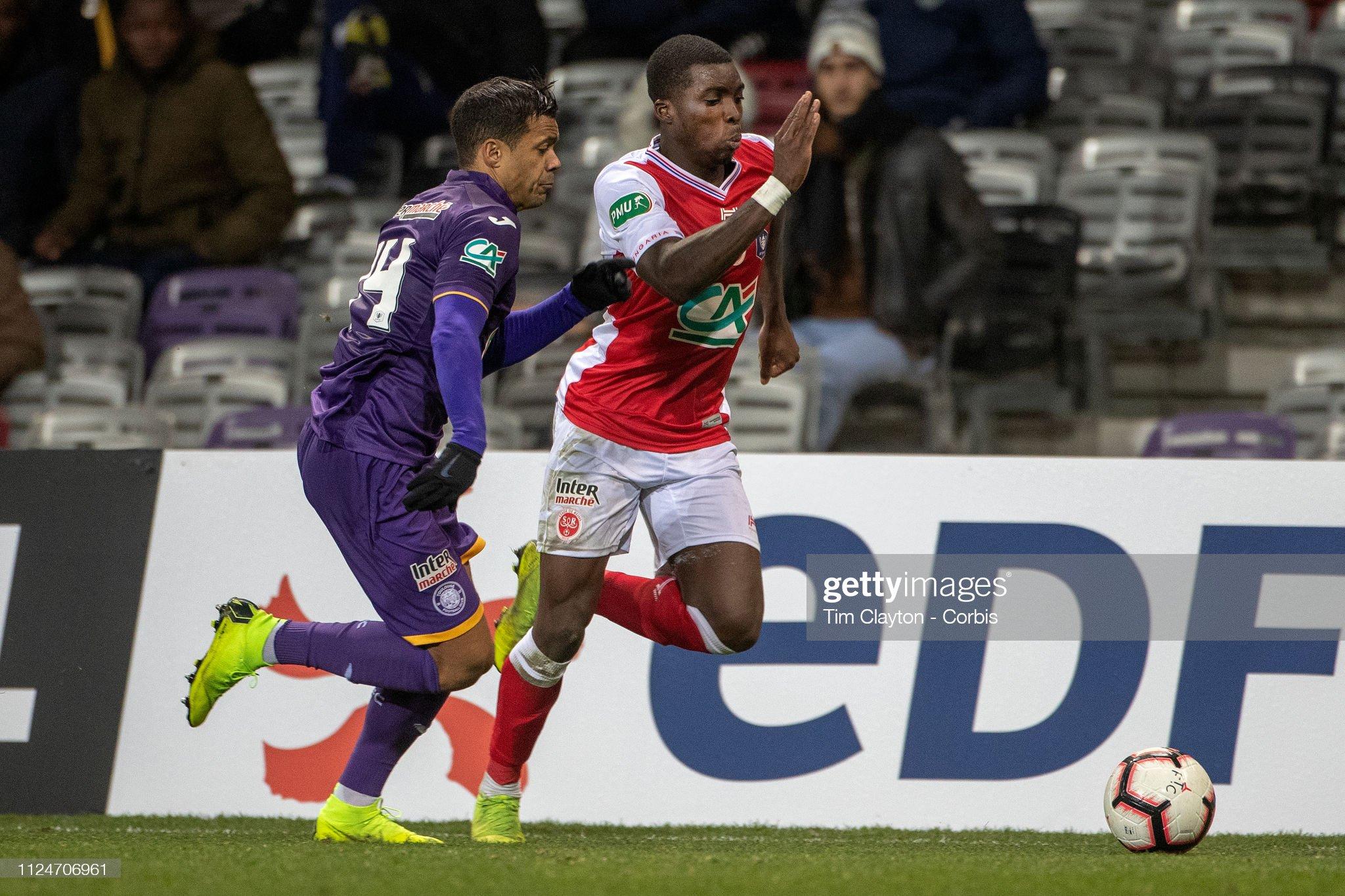 Toulouse FC V Stade de Reims. Coupe de France. : News Photo