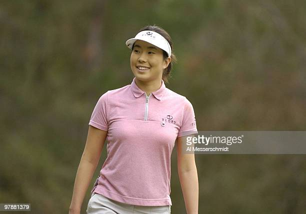 Shi Hyun Ahn tees off on the fourth hole during the second round at the LPGA Tournament of Champions November 12 2004 in Mobile Alabama