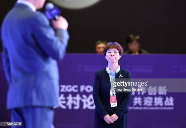 Shi Zhengli, a researcher at the Wuhan Institute of Virology , attends 2020 Zhongguancun Forum on September 18, 2020 in Beijing, China.