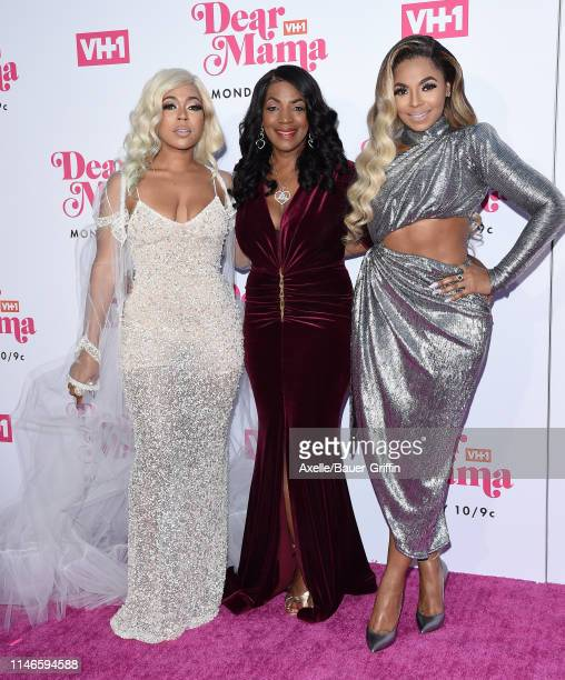 Shia Douglas Tina Douglas and Ashanti attend VH1's Annual Dear Mama A Love Letter To Mom at The Theatre at Ace Hotel on May 02 2019 in Los Angeles...