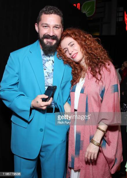 Shia LaBeouf and Alma Har'el attend the premiere of Amazon Studios Honey Boy at The Dome at Arclight Hollywood on November 05 2019 in Hollywood...