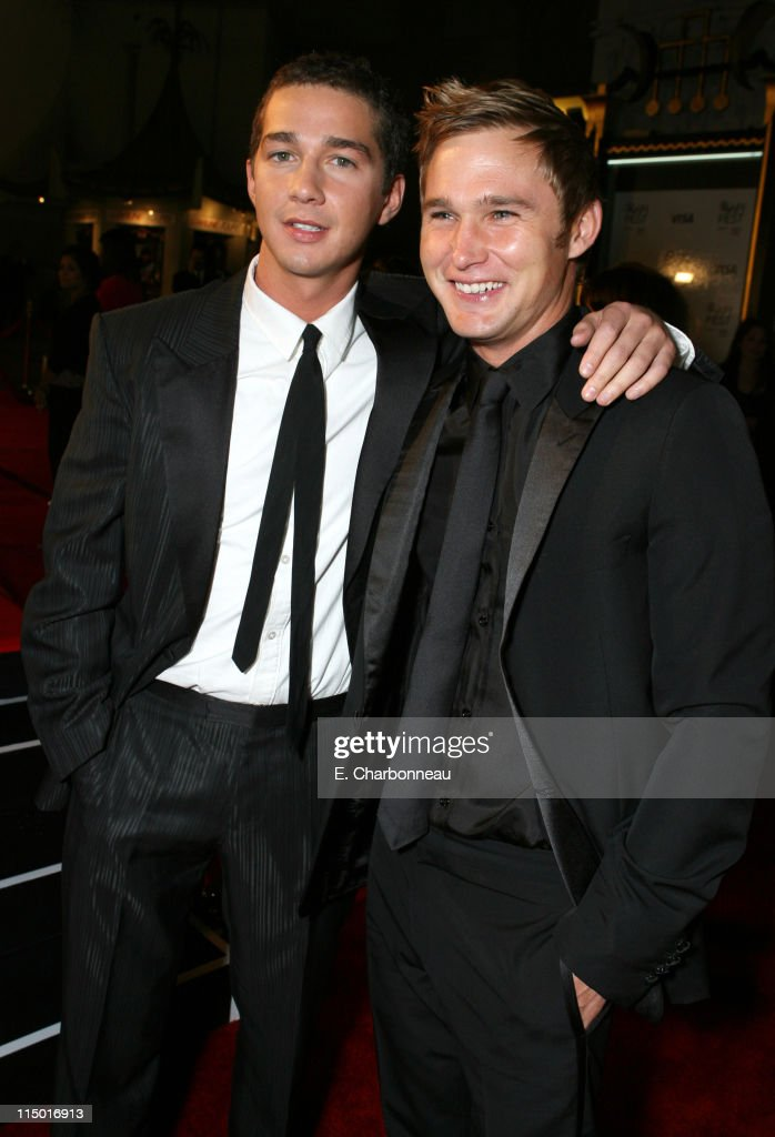 Shia LaBeouf and Brian Geraghty during The Weinstein Company Hosts Black Tie Opening Night Gala and US Premiere of Emilio Estevez's 'Bobby' at Grauman's Chinese Theatre in Los Angeles, CA, United States.