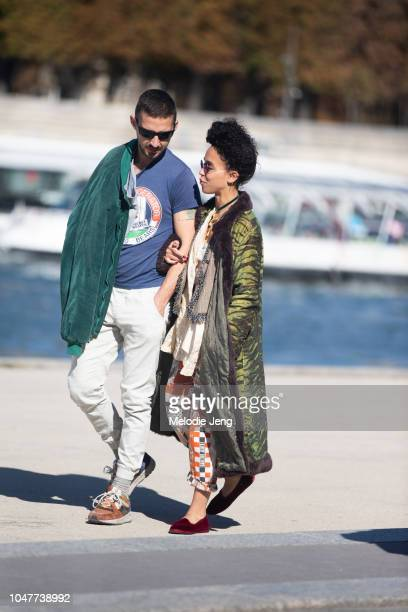 Shia LaBeouf and FKA Twigs are spotted on the Seine river on September 30 2018 in Paris France