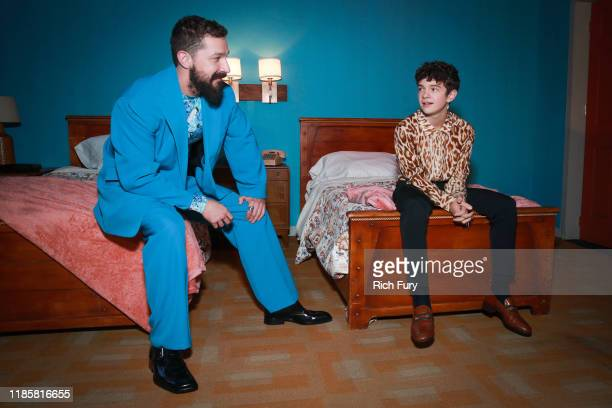 Shia LaBeouf and Noah Jupe attend the premiere of Amazon Studios Honey Boy on November 05 2019 in Hollywood California