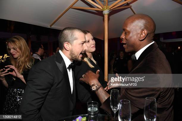 Shia LaBeouf and Tyrese Gibson attend the 2020 Vanity Fair Oscar Party hosted by Radhika Jones at Wallis Annenberg Center for the Performing Arts on...