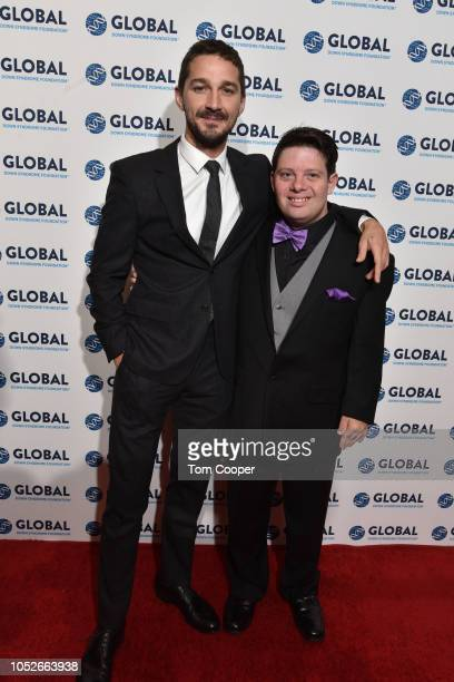 Shia LaBeouf and Zack Gottsagen at the Global Down Syndrome 10th anniversary BBBY fashion show at Sheraton Denver Downtown Hotel on October 20 2018...