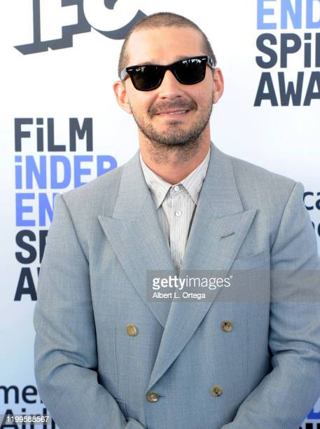 Shia LaBeouf arrives for the 2020 Film Independent Spirit Awards held on February 8, 2020 in Santa Monica, California.