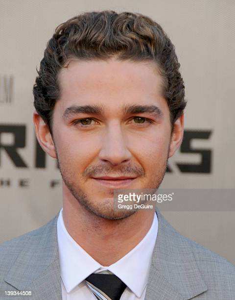 Shia LaBeouf arrives for the Los Angeles Premiere of Transformers Revenge Of The Fallen at the Mann's Village Theater in Westwood California on June...