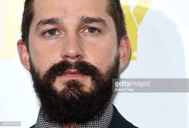Shia LaBeouf attends a photocall for Fury during the 58th BFI London Film Festival at Corinthia Hotel London on October 19 2014 in London England