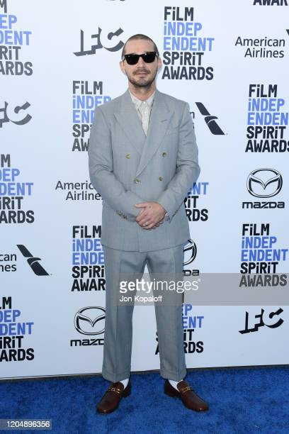 Shia LaBeouf attends the 2020 Film Independent Spirit Awards on February 08 2020 in Santa Monica California