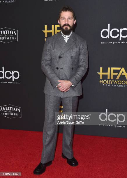 Shia LaBeouf attends the 23rd Annual Hollywood Film Awards at The Beverly Hilton Hotel on November 03 2019 in Beverly Hills California
