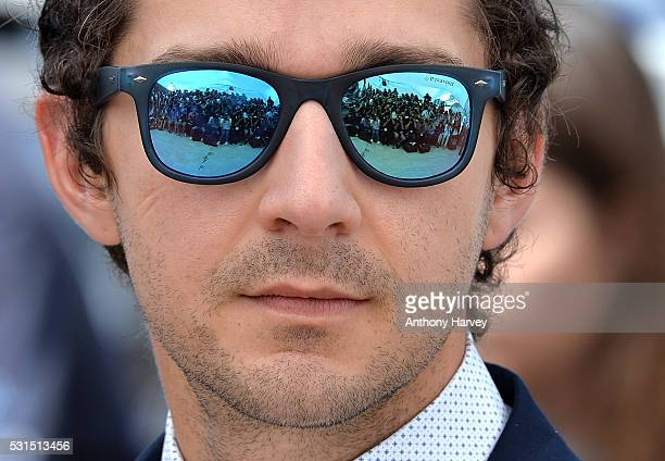 Shia LaBeouf attends the 'American Honey' Photocall at the annual 69th Cannes Film Festival at Palais des Festivals on May 15 2016 in Cannes France