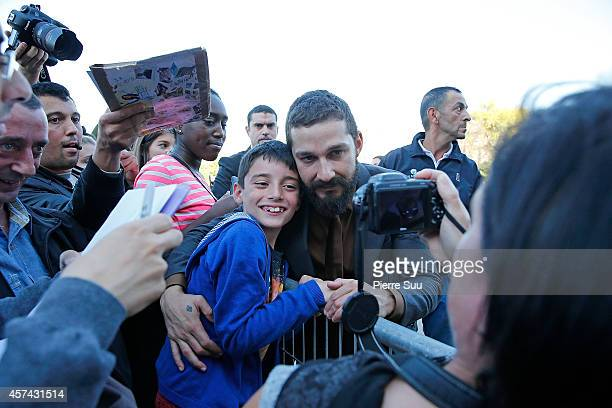 Shia Labeouf attends the 'Fury' Photocalll at Les Invalides on October 18 2014 in Paris France