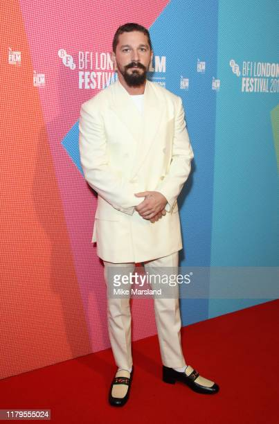 """Shia LaBeouf attends the """"Honey Boy"""" European Premiere during the 63rd BFI London Film Festival at the Vue West End on October 06, 2019 in London,..."""