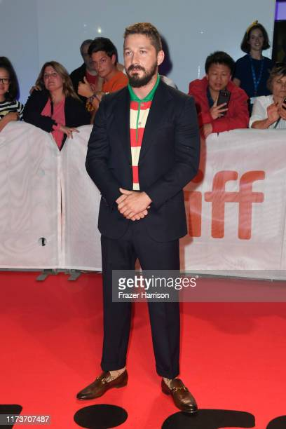 Shia LaBeouf attends the Honey Boy premiere during the 2019 Toronto International Film Festival at Roy Thomson Hall on September 10 2019 in Toronto...