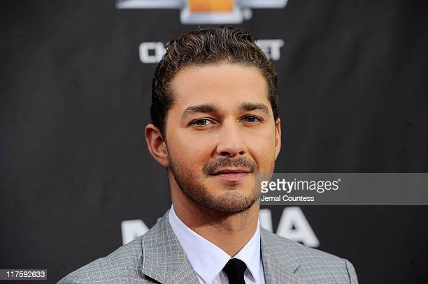Shia LaBeouf attends the New York premiere of Transformers Dark Of The Moon in Times Square on June 28 2011 in New York City