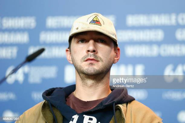 Shia LaBeouf attends the 'Nymphomaniac Volume I ' press conference during 64th Berlinale International Film Festival at Grand Hyatt Hotel on February...