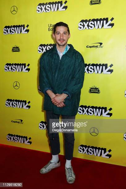 Shia LaBeouf attends The Peanut Butter Falcon Premiere during the 2019 SXSW Conference and Festivals at Austin Convention Center on March 9 2019 in...