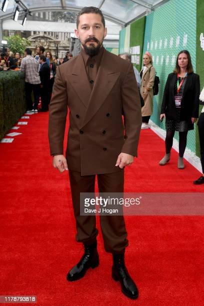 """Shia LaBeouf attends """"The Peanut Butter Falcon"""" UK Premiere during 63rd BFI London Film Festival at the Embankment Gardens Cinema on October 03, 2019..."""