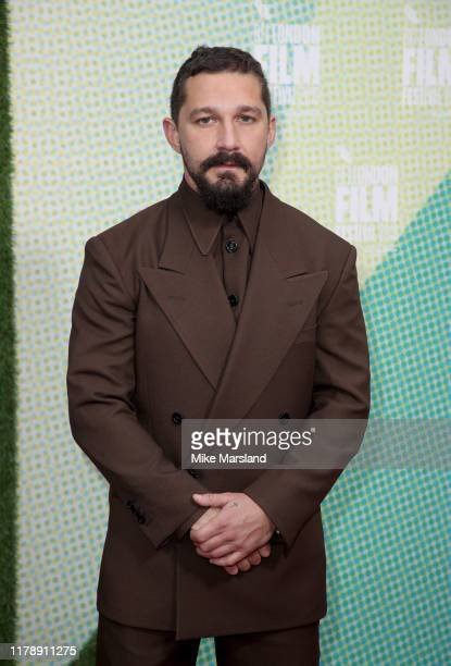 Shia LaBeouf attends The Peanut Butter Falcon UK Premiere during 63rd BFI London Film Festival at the Embankment Gardens Cinema on October 03 2019 in...