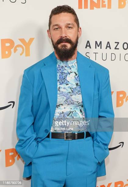 """Shia LaBeouf attends the premiere of Amazon Studios """"Honey Boy"""" at The Dome at Arclight Hollywood on November 05, 2019 in Hollywood, California."""