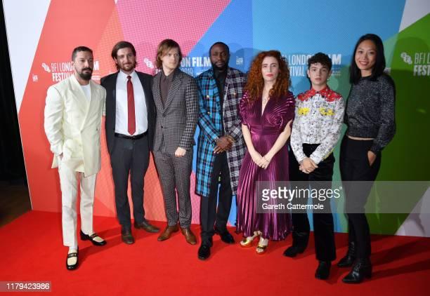 Shia LaBeouf Chris Leggett Lucas Hedges Byron Bowers Alma Har'el Noah Jupe and Anita Gou attend the Honey Boy European Premiere during the 63rd BFI...
