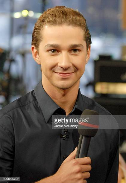 Shia LaBeouf during Shia LaBeouf Visits MTV's TRL June 26 2007 at MTV Studios in New York City New York United States
