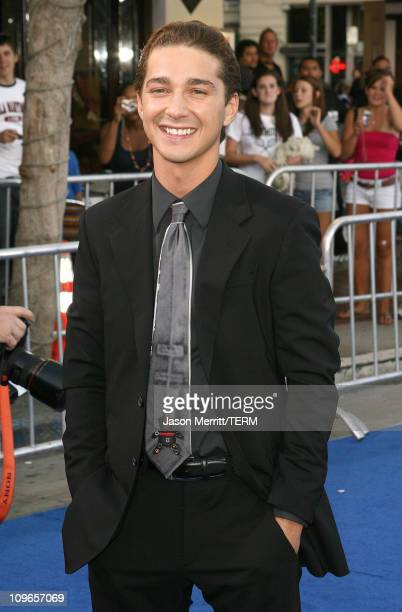 Shia LaBeouf during Transformers Los Angeles Premiere Arrivals at Mann Village Theater in Westwood California United States