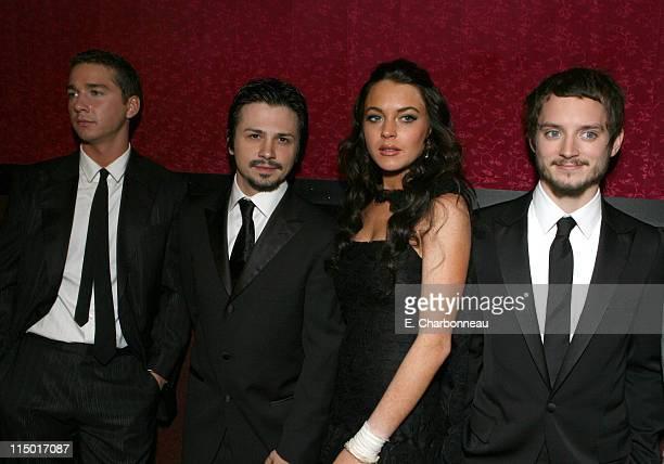 Shia LaBeouf Freddy Rodriguez Lindsay Lohan and Elijah Wood