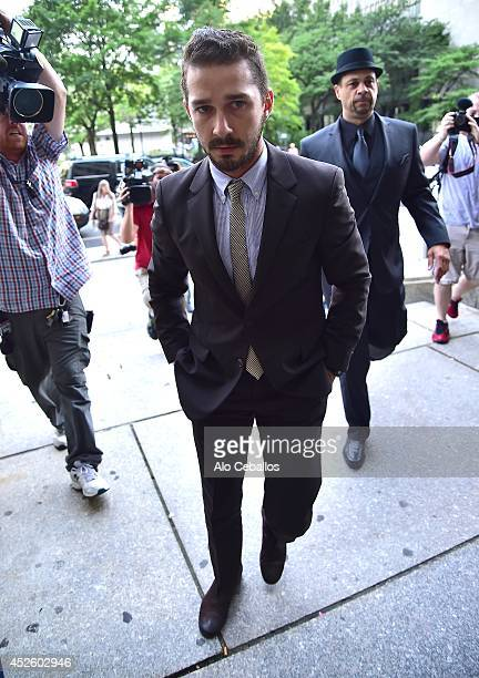 Shia LaBeouf is seen arriving at the court house on July 24 2014 in New York City