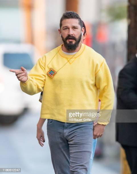 Shia LaBeouf is seen at 'Jimmy Kimmel Live' on November 06 2019 in Los Angeles California