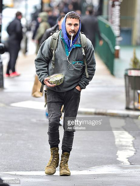 Shia LaBeouf is seen in Tribeca on March 21 2015 in New York City